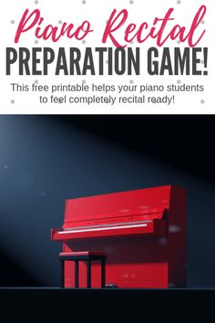 A fun pre-recital piano game that will help students kick their anxiety to the curb when the big day arrives. Music Activities, Teaching Activities, Teaching Tools, Teaching Ideas, Piano Lessons, Music Lessons, Piano Games, Music Games, Piano Recital