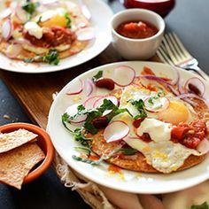 Gluten Free Breakfast Tostadas with brown rice tortillas - a perfect healthy breakfast or brunch.