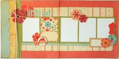 nice layout- like the borders on the left with the twine and how the flowers lead your eye around the page.