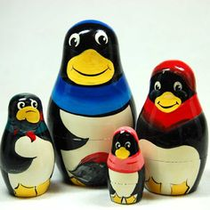 Find amazing Penguins Nesting Doll penguin gifts for your penguin lover. Matryoshka Doll, Wooden Dolls, Animals Beautiful, Adult Coloring, Animals And Pets, Penguins, Stack Em, Nick Nacks, Diy Crafts