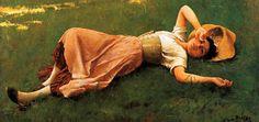 La hora sexta, sucumbir a la meridiana  Frank Duveneck, The siesta
