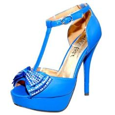 Damita K Womens Abby-09 Platform High Heel Ankle T Strap Shoes - Price: $22.99