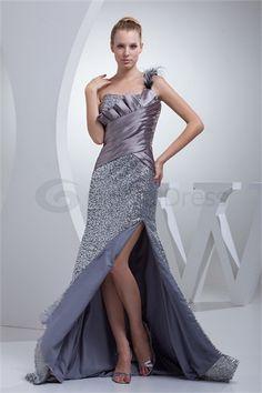 Silk-like Satin Sequined Material Mermaid/ Trumpet Holiday Dress
