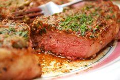 Black Pepper Strip Steaks Recipe