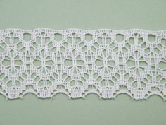 Vintage Ivory Cream Cotton Crochet Bobbin Lace by OneGirlsVintage, $15.00
