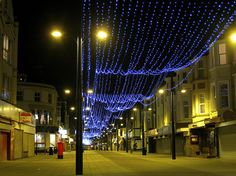 Lights along Regent Road, Great Yarmouth
