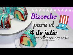 Diorizella Events and Crafts - YouTube: Como Hace un Bizcocho para el 4 de julio // How to make a Independence Day Cake #4thjuly #DiorizellaEC #BoxCake