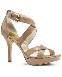 38ba86267ca8 MICHAEL Michael Kors | Evie Patent Leather Stiletto Sandals | Lyst Dress  And Heels, Dress