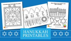 Free #Hanukkah #printables for kids | alexbrands.com