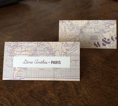 World Map Place Cards/Escort Cards with optional by PixieChicago