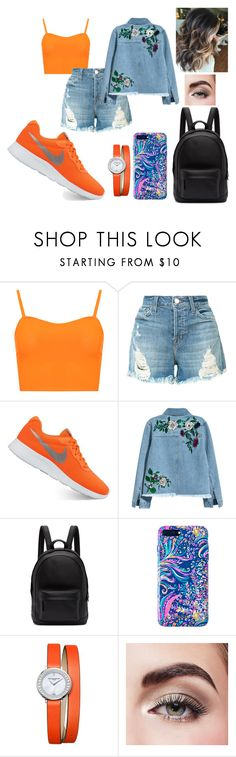"""""""Orange..  👼"""" by dicece ❤ liked on Polyvore featuring WearAll, J Brand, NIKE, H&M, PB 0110, Lilly Pulitzer, Baume & Mercier and Avon"""
