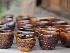竹茶碗 竹根茶碗 食器 器 漆塗り lacquerware 竹細工 竹工芸品 bamboo 虎斑竹専門店 竹虎