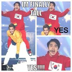 "Kris and ""tall"" D.O.!!! Haha"