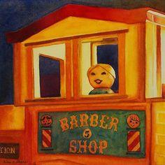 "Daily Paintworks - ""Her First Apartment"" - Original Fine Art for Sale - © Kara K. Bigda"