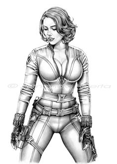 AVENGERS BLACK WIDOW - Pencils by armando-huerta.deviantart.com