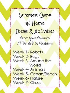 Summer Camp at Home: Animal Activities and Snacks