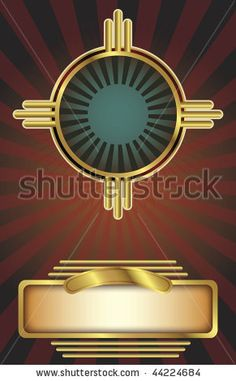 Vector background in an Art Deco style with copy space. Perfect for posters or other printed, promotional materials. by Derek R. Audette, vi...