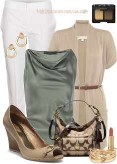 """""""Michael Kors Belted Cardigan  Coach"""" by casuality on Polyvore"""