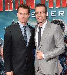 Actors James Badge Dale and Guy Pearce attend Marvel's Iron Man 3 Premiere at the El Capitan Theatre on April 24, 2013 in Hollywood, California. http://marvel.com/ironman3live