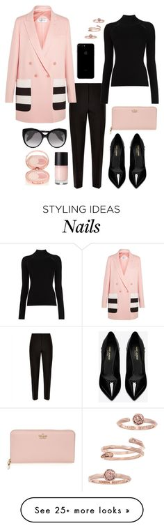 """""""217"""" by m-fashionartist on Polyvore featuring Jaeger, MaxMara, Misha Nonoo, Yves Saint Laurent, Kate Spade, Kendra Scott, Alexander McQueen and By Terry"""