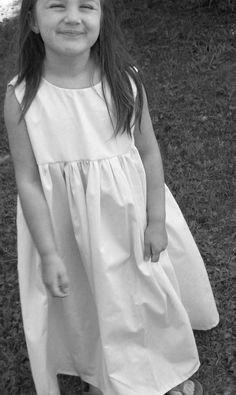Isabelle ...  Natural Cotton Flower Girl Dress... As Seen in Martha Stewart Weddings Spring 2011