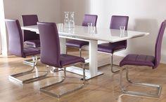 Tokyo Perth Extending Dining Set Purple Room Furniture