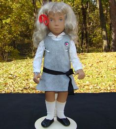 1984-86 Sasha Doll Blonde School 114s Mint Made in England from americanbeautydolls on Ruby Lane