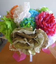 Fancy rehearsal bouquet, fun and easy!!!