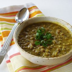 Creamy Curry Lentil Soup with Chickpea Puree