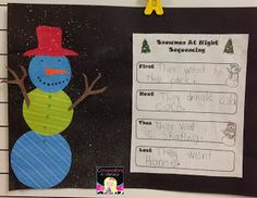 Conversations in Literacy: Picture Books-Snowmen at Night Retelling Activities, Book Activities, Christmas Activities, Winter Activities, Kindergarten Christmas, Winter Fun, Winter Theme, Winter Ideas, Holiday Classrooms