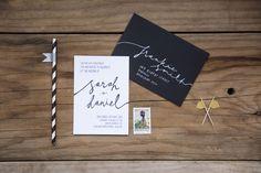 AUDREY black and white hand lettered wedding invite by loveideas on Etsy https://www.etsy.com/listing/196116160/audrey-black-and-white-hand-lettered