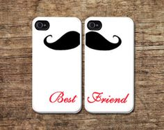 BFF phone casemoustache iPhone 4 coverpersonalized by Mycovercase, $18.99