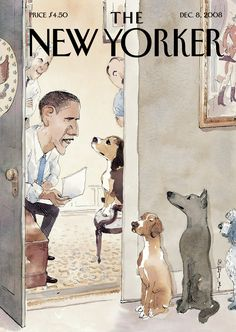 """The New Yorker - Monday, December 8, 2008 - Issue # 4289 - Vol. 84 - N° 40 - Cover """"Vetting"""" by Barry Blitt"""