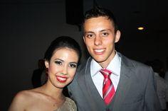 Matheus Prado e Mayune de Souza Taira tinham o brilho da vitória nos olhos.