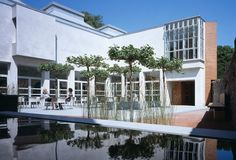 The courtyard at Pallant House Gallery, Chichester. The best Modern British art in the South.