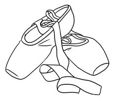 Princess Ballet Shoes Coloring Page Ballet Party Pointe Shoes
