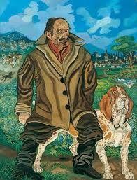 Antonio Ligabue, self-portrait with dog