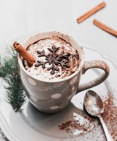 Find and save your favorite chocolate desserts. Collect your ultimate chocolate collection from milky sweet to dark decadence. Christmas Coffee, Christmas Drinks, Winter Christmas, Christmas Hot Chocolate, Merry Christmas, Xmas, Christmas Foods, Christmas Shopping, Christmas Gifts