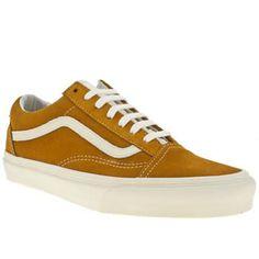vans old skool trainers in yellow