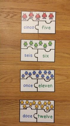 Numbers in Spanish Activity Game Puzzle ESL Newcomer Los Numeros
