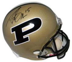 dfdc02e75 Drew Brees Autographed Purdue Boilermakers Full-Size Replica Helmet - JSA -  Sports Memorabilia