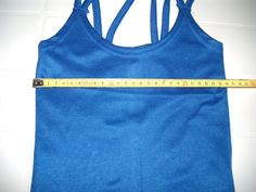 Blue Color Woman Top with double straps - Smal Size - S by BrutalVisual