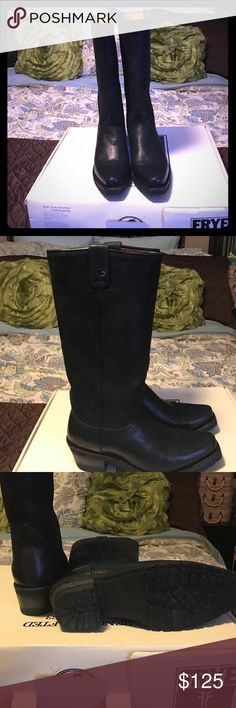 Frye Jennifer Estes Special Collection Great condition. Worn once. Black pull on boots. Frye Shoes