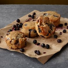 Wholesome Blueberry Scones - gluten-free recipe with Gluten Free Quick Bread, Gluten Free Scones, Gluten Free Blueberry, Gluten Free Baking, Vegan Gluten Free, Gluten Free Breakfasts, Gluten Free Desserts, Dairy Free Recipes, Blueberry Scones