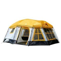 Tahoe Gear Ozark 3 Season 16 Person Large Family Cabin Tent - Yellow for sale online Camping Cot, Best Tents For Camping, Camping Mattress, Family Camping, Camping Hacks, Camping Ideas, Camping Storage, Family Tent, Cot Mattress