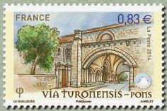 ASSOCIATION PROMOTION PATRIMOINE de PONS (17): nouveau timbre représentant l'Hôpital des Pèlerins...