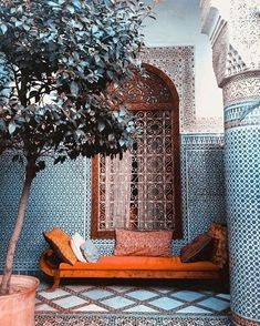 What IS a riad? Explaining the indoor/outdoor mix of the Moroccan courtyard (photoshoot in an abandoned Marrakech riad) Moroccan Design, Moroccan Decor, Moroccan Style, Moroccan Blue, Moroccan Bedroom, Moroccan Lanterns, Moroccan Lounge, Moroccan Garden, Moroccan Wedding