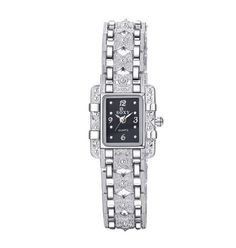 147ae314bb4 Luxusní třpytivé dámské hodinky ve stříbrném barevném provedení se zirkony  a černým ciferníkem Na tento produkt