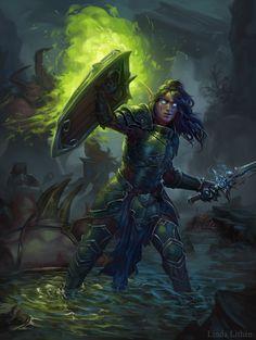 Warcraft fanart - At the Broken Shore, Linda Lithén on ArtStation at https://www.artstation.com/artwork/qX64e