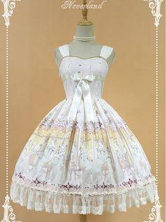 Natural Waist Bowknot Decoration On The Bodice And Lace Hemline Lolita JSK - Kurfü by Souffle Song